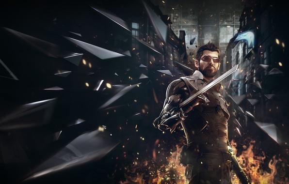 Picture fan art, deus ex, adam jensen, Deus Ex: Mankind Divided, mankind divided