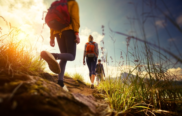 Picture road, walk, path, backpack
