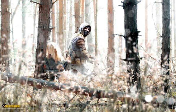 Picture forest, girl, ambush, hobo, Survarium, Vostok Games
