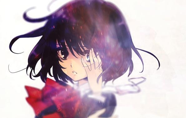 Picture girl, anime, art, headband, schoolgirl, other, misaki mei, another