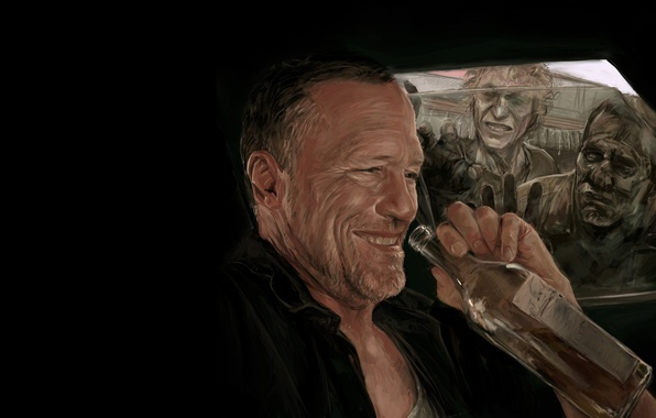Picture art, zombies, zombie, the series, art, serial, The Walking Dead, The walking dead, Merle Dixon, …