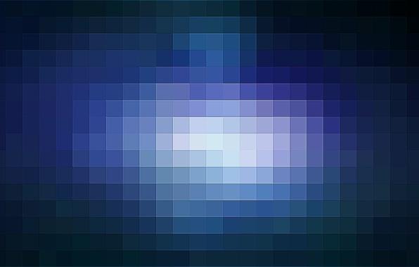 Picture background, blue, minimalism, pixels, pixel, pixel, pixelate, blu