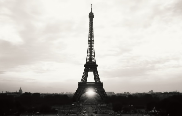 Picture the sky, city, the city, Eiffel tower, Paris, b/W, France, paris, france