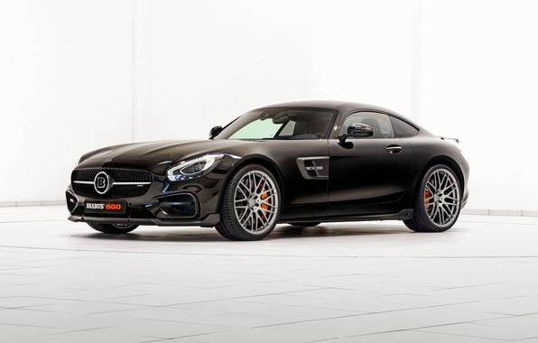 Picture black, Brabus, Mercedes, AMG, Black, BRABUS, AMG, 2015, GT S, C190, Mercedes-Bnz