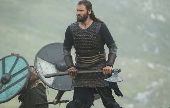 Photo wallpaper the series, axe, The Vikings, Vikings, Clive Standen, Rollo
