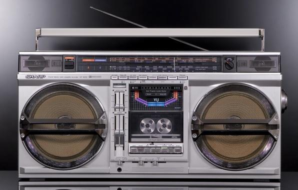 Picture retro, classic, tape, Sharp, GF-9000