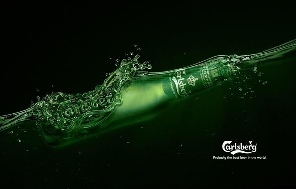 Picture bottle, beer, brand, beer, Carlsberg, Carlsberg