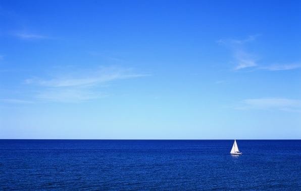 Picture sea, the sky, yacht, sail