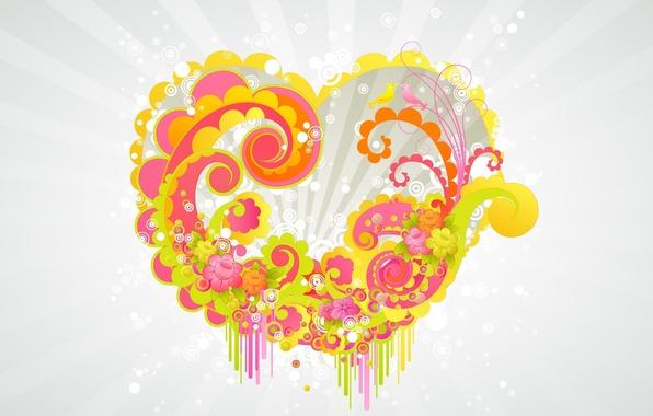 Picture Wallpaper, heart, Desk