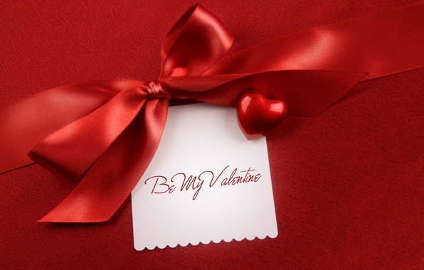 Picture holiday, heart, bow, Valentine's day, heart, postcard, Valentine's Day, holiday, bow, satin ribbon, satin ribbon, …