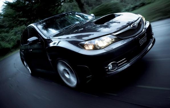 Picture black, Subaru, Impreza, colors new model