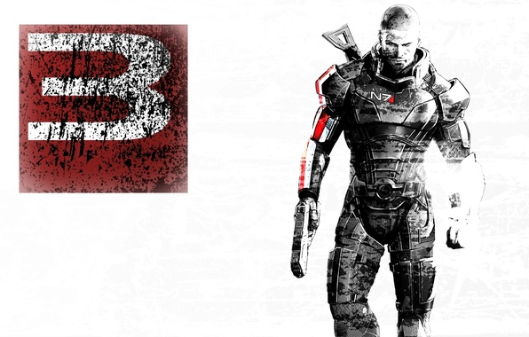 Picture white background, mass effect, mass effect 3, Shepard, men