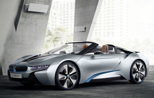 Picture trees, house, bmw, BMW, concept, the concept, supercar, the front, spider, spyder, ай8