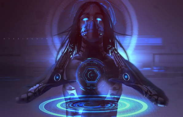 Wallpaper Look Girl Technology Hands Cyborg Cyberpunk Sci Fi Images For Desktop Section
