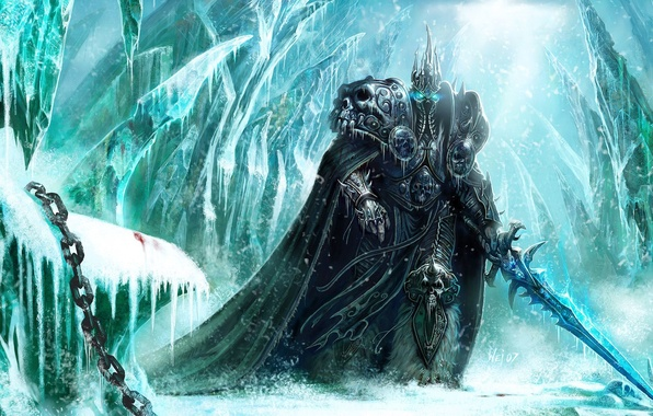 Picture ice, armor, sword, world of warcraft