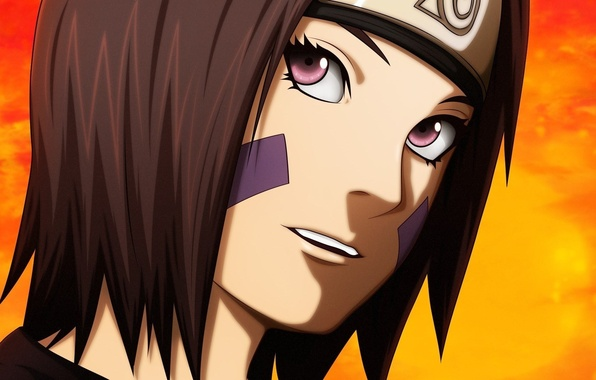Picture girl, game, Naruto, eyes, anime, short hair, purple eyes, pretty, face, ninja, asian, cute, manga, ...