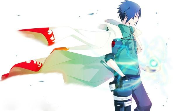 Picture Anime, Naruto, Naruto, Cape, short hair, Uchiha Sasuke, Uchiha Sasuke, Rasengan