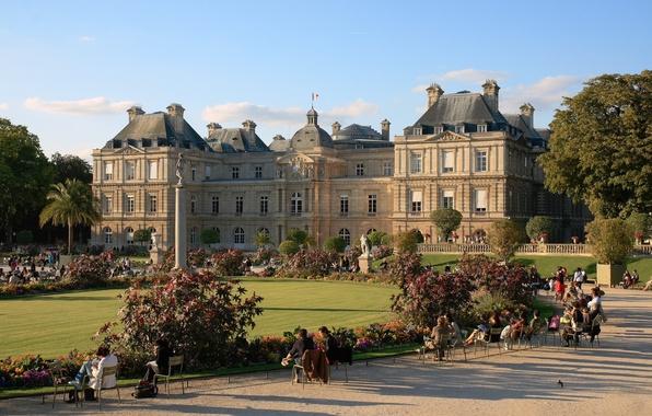 Picture Park, people, France, Paris, Paris, Palace, France, sculpture, The Luxembourg Palace, palace
