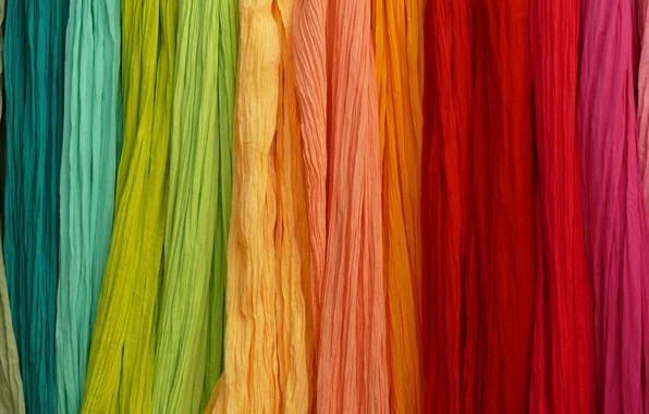 Picture canvas, color, rainbow, fabric, curtains, curtains