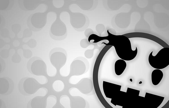 Picture background, smile, black and white, smiley, emoji, Emoji