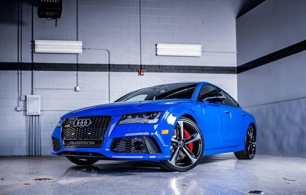 Picture Audi, Audi, Sport, Blue, Sedan, Blue, RS7