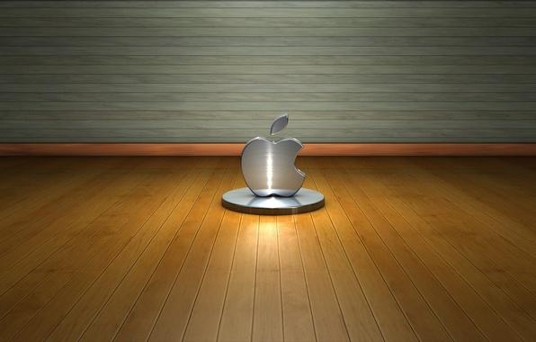 Picture wall, tree, apple, logo, floor, metal, Hi-Tech