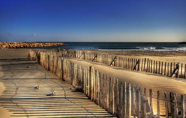 Picture sand, sea, Wallpaper, picture
