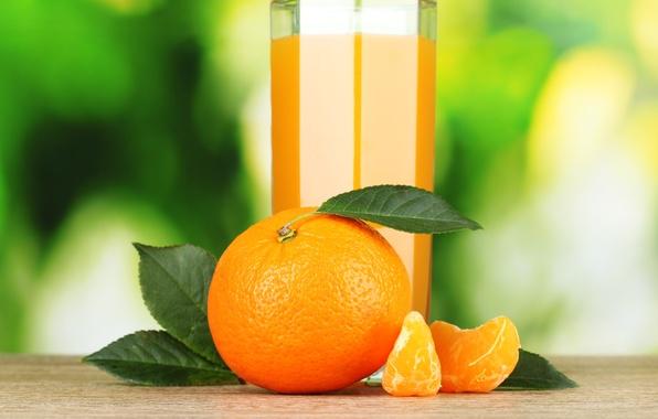 Picture glass, orange, juice, citrus, Mandarin