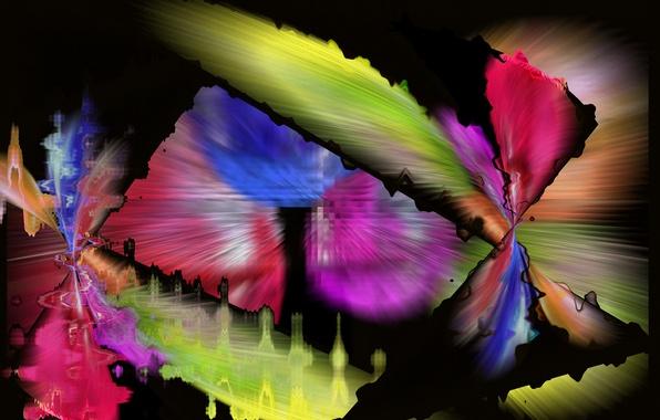 Picture line, background, pattern, color, spot