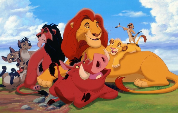 Photo Wallpaper Disney Timon The Lion King Simba Pumbaa Scar
