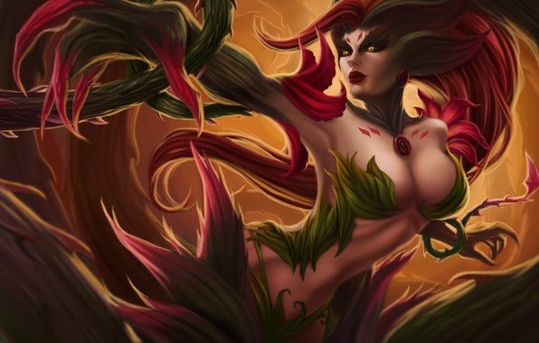 Picture girl, lol, League of Legends, moba, Rise of the Thorns, Zyra