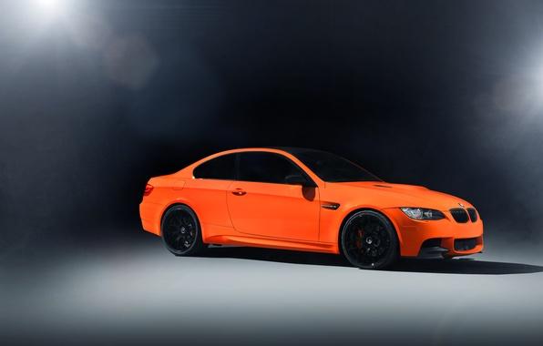 Picture light, orange, glare, BMW, BMW, front, E92, orange