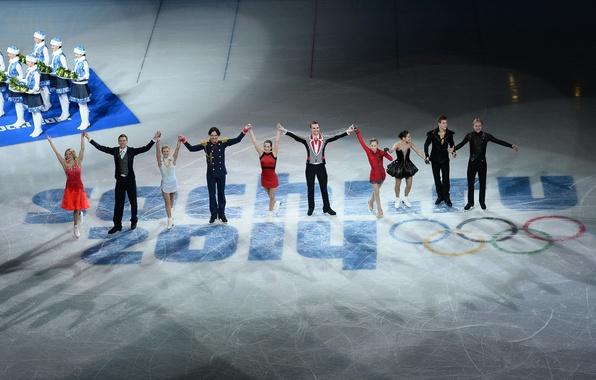 Picture victory, Russia, Sochi 2014, Ksenia Stolbova, Maxim Trankov, Dmitry Solovyov, Nikita Katsalapov, The XXII Winter …