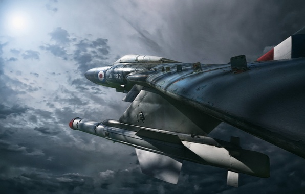 Picture photoshop, composite, Night Hunter, Gloster Javelin FAW.9R