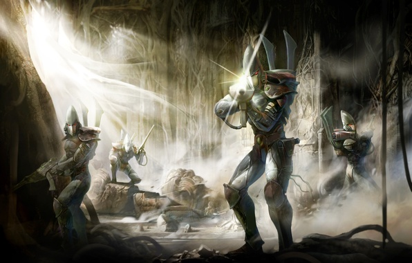 Picture concept, captain, wall, warhammer, squad, Eldar, guardians, eldar, guards, sweep, poster