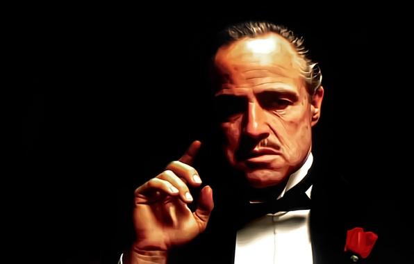 Picture style, movie, art, classic, Marlon Brando, Vito, godfather, the godfather, Corleone, don
