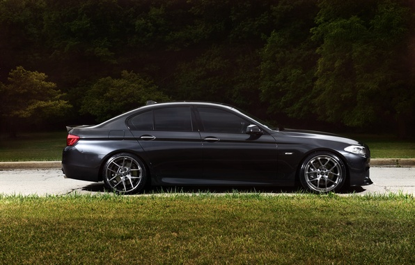 Picture black, bmw, BMW, profile, wheels, drives, black, f10, tinted, 550i