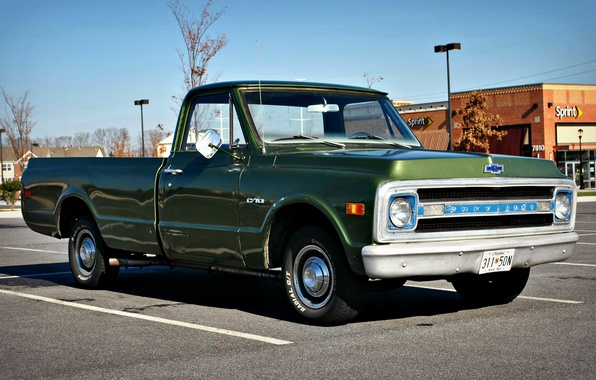 Photo Wallpaper Vintage Chevy C10 Truck Pickup Chevrolet Cars