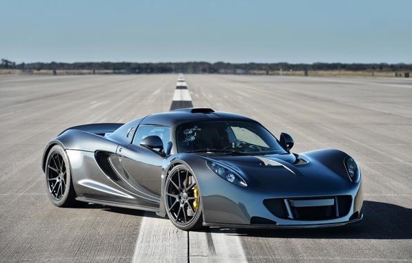 Picture background, horizon, supercar, the front, Hennessey, Venom GT, Hennessy, Venom GT, World Speed Record