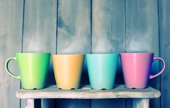 Picture color, Cup, rainbow