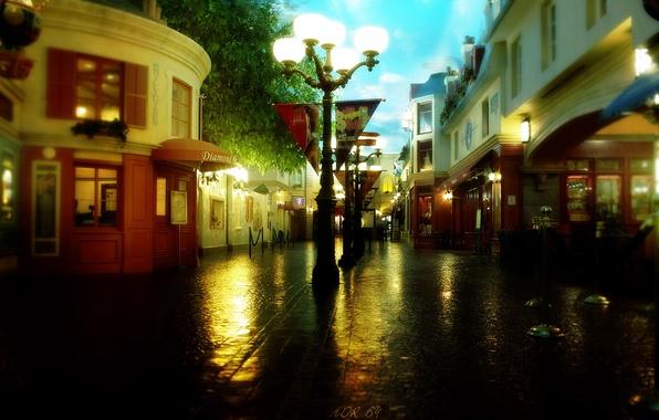 Picture street, pharmacy, lantern