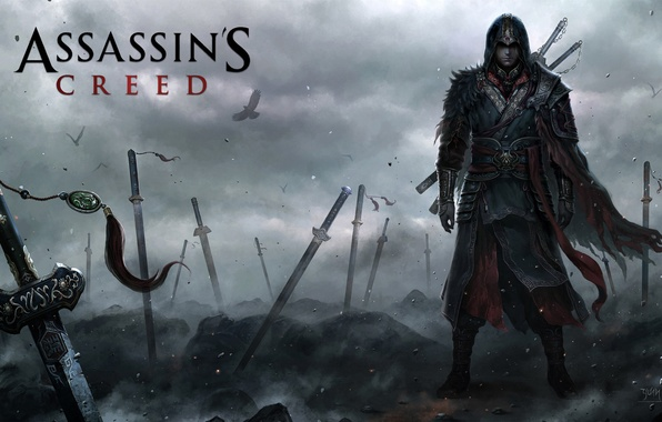 Picture war, swords, Assassins creed, assassin, video game, the Aftermath