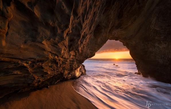 Picture sea, water, light, nature, rocks, excerpt