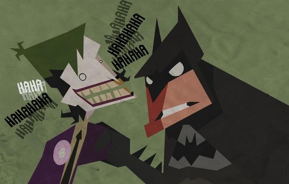 Picture batman, Batman, Joker, figure, laughter