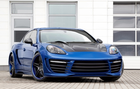 Picture blue, tuning, Windows, Porsche, Panamera, GTR, drives, Porsche, tuning, the front, Stingray, Ball Wed, Panamera