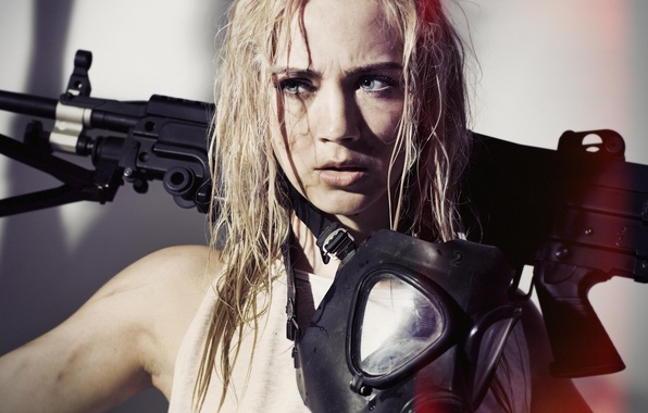Picture face, style, model, machine, gas mask