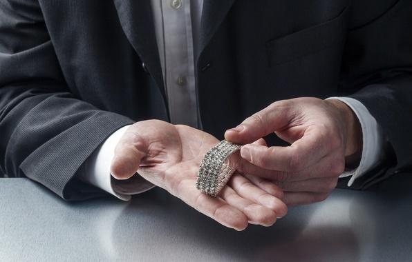 Picture man, suit, jewelry, diamonds