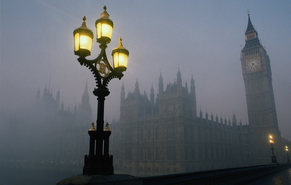 Picture bridge, fog, London, tower