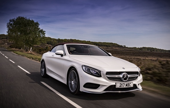 Picture auto, lights, Mercedes-Benz, Mercedes, the front, Cabriolet, S 500, AMG line