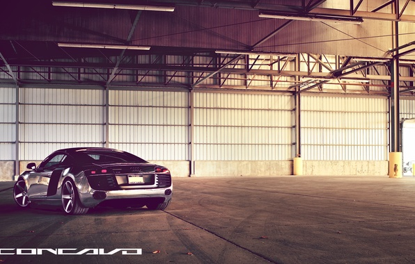Picture Audi, lights, Chrome, feed, CW-5, Concavo Wheels, Matte Black Machined Face
